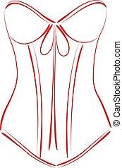 corset., sketched