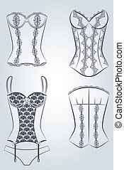 corset with  ornament