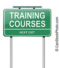 corsi, addestramento, concept.