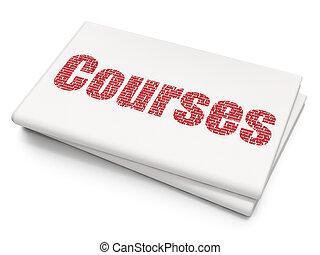 corsi, fondo, vuoto, giornale, educazione, concept: