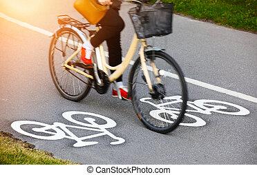 corsia, bicicletta