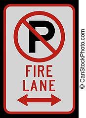 corsia, no, fuoco, doppio, illustrazione, segno, vettore, freccia, parcheggio