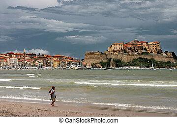 CORSICA CALVI Beach of Calvi - The Calvi bay is one of the ...
