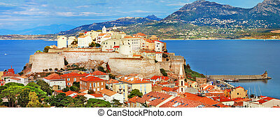 Corsica, France - Panoramic view of Calvi