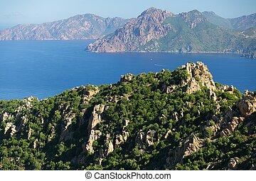 Corsica island coastline