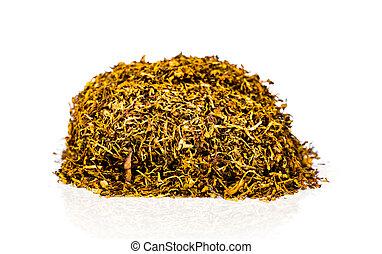 cortado, cópia, natural, tabaco, nicotine., não, maio, concept., isolado, space., fonte, 31, pilha, secado, fundo, folhas, mundo, branca, :, dia
