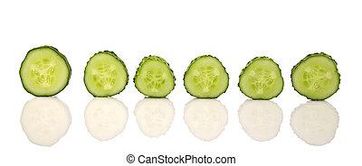 cortado, verde, pepino