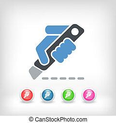 cortador, icono
