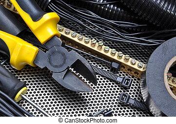 cortadores, con, componente eléctrico