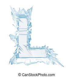 cortando, letra, cristal, gelo, case.with, l.upper, font., caminho