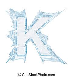cortando, letra, gelo, case.with, cristal, k.upper, font., caminho