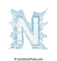 cortando, letra, n.upper, gelo, case.with, cristal, font., caminho
