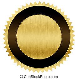 cortando, ouro, pretas, included, caminho, medalha
