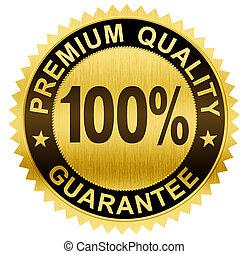 cortando, prêmio, ouro, guaranteed, qualidade, selo,...