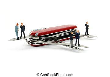 cortaplumas, empresarios