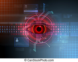 cortar, atividade, em, ciberespaço