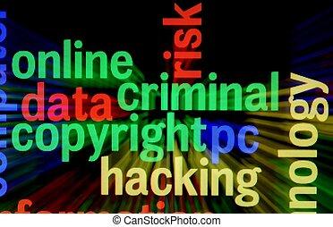 cortar, criminal, direitos autorais