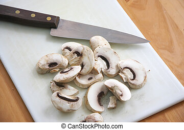 cortar, hongos