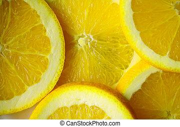 cortar, limón, cicatrizarse