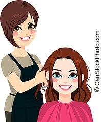 corte cabelo, cabeleireiras