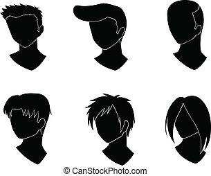 corte cabelo, desenho