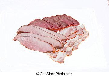 corte, cerdo, hervido, carne