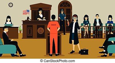 corte de la justicia