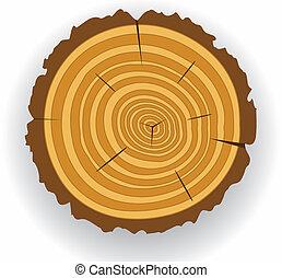 corte, de madera