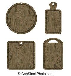 corte, diferente, jogo, placas, madeira