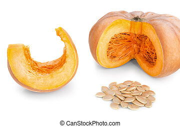 corte, fondo., seeds., rebanadas, pedazos, sopa, blanco,...