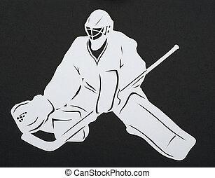 corte instrumentos de crédito, hockey, portero