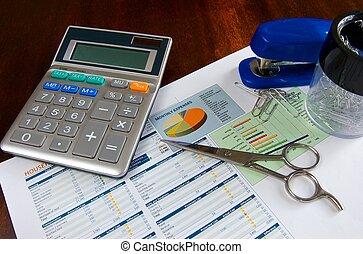 corte, preparando, presupuesto