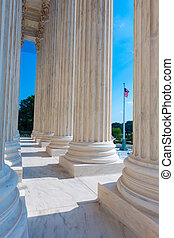 corte suprema, de, estados unidos, colunas, fila