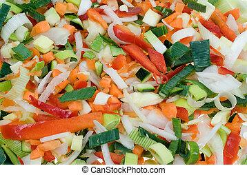 corte, vegetales