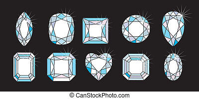 cortes, formas diamante