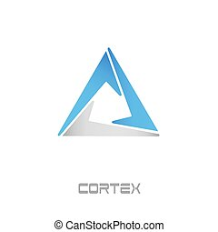 Cortex Cryptocurrency Coin Sign Isolated