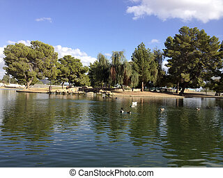 Cortez Lake - Nice Fall sunny day at city lake in Cortez...