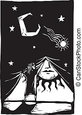 cortina, #1, noche
