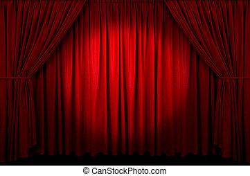 cortina, acontecimiento
