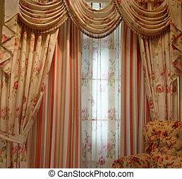 cortina, luxo