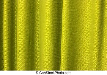 cortina, ouro, textura, fundo