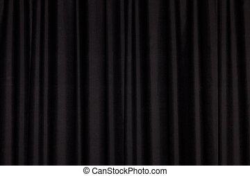 cortina, pretas