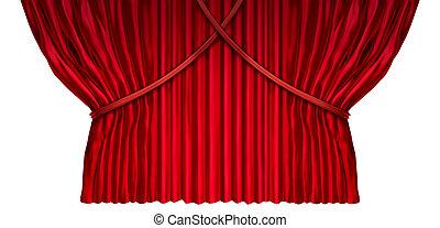 cortina, projete elemento