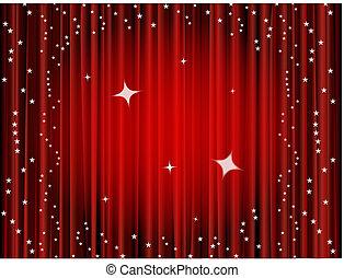 cortina, teatro, plano de fondo