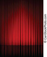cortina, teatro, vertical