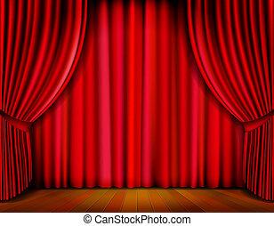 cortina, vetorial