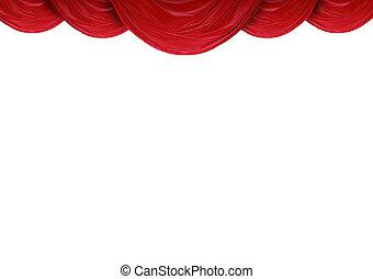 cortinas, fundo, branca