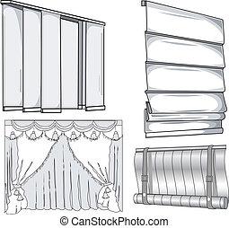 cortinas, jalousie