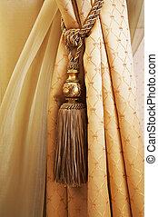 cortinas, ornamentos