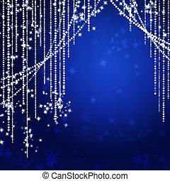 cortinas, resumen, feriado, guirnalda